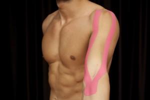 Applicazione del tape sul braccio, Taping Elastico